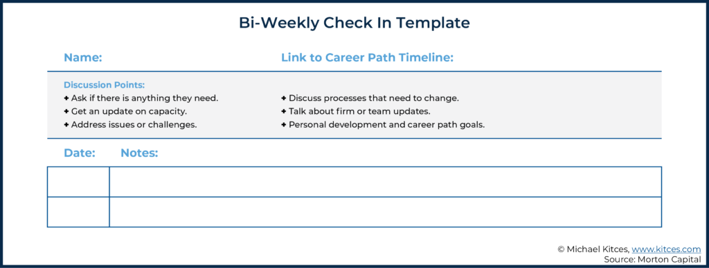 Image Of The Bi-Weekly Check In Template