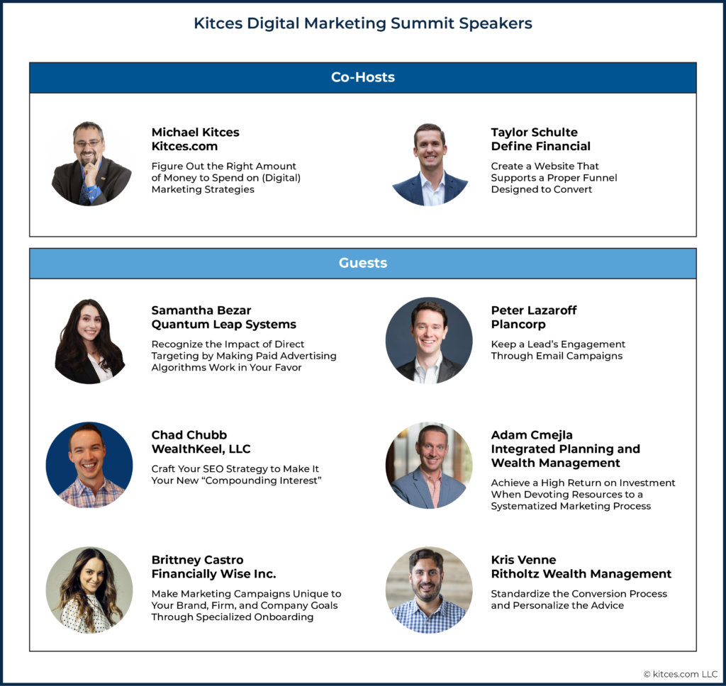 Kitces Digital Marketing Summit Speakers