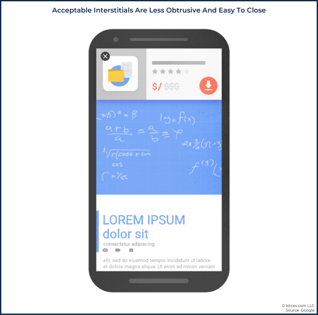 02 Acceptable Interstitials Are Less Obtrusive And Easy To Close