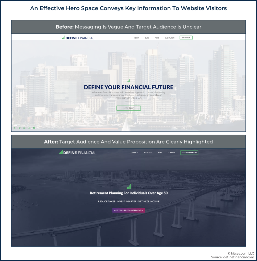 03 An Effective Hero Space Conveys Key Information To Website Visitors