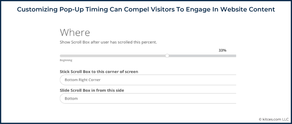 06 Customizing Pop-Up Timing Can Compel Visitors To Engage In Website Content