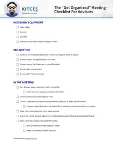 Get Organized Checklist
