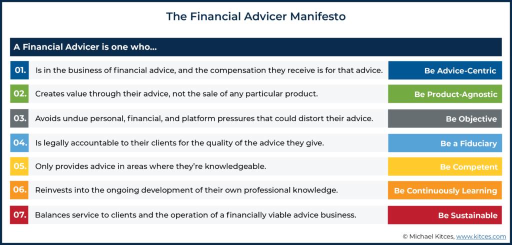 The Financial Advicer Manifesto